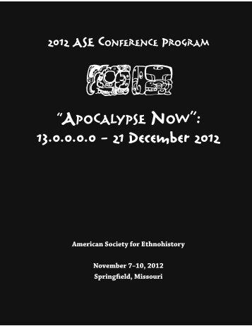 final program - American Society for Ethnohistory