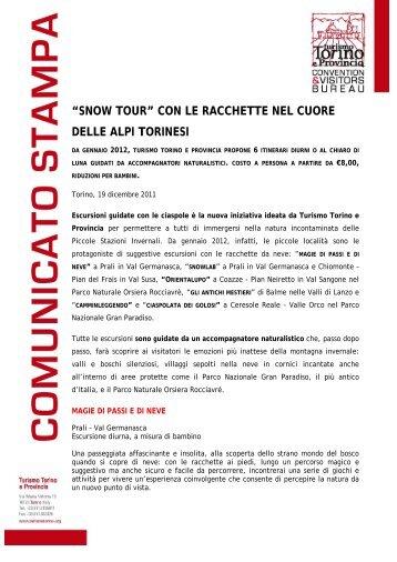 """""""snow tour"""" con le racchette nel cuore delle alpi ... - Turismo Torino"""