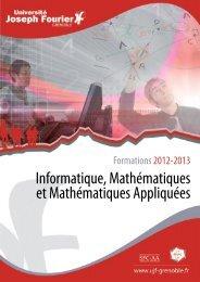 Informatique, Mathématiques et Mathématiques ... - Ufr IM²AG