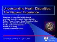 Understanding Health Disparities: The Hispanic Experience