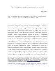 Nuevo Cine Argentino - Instituto de Altos Estudios Sociales