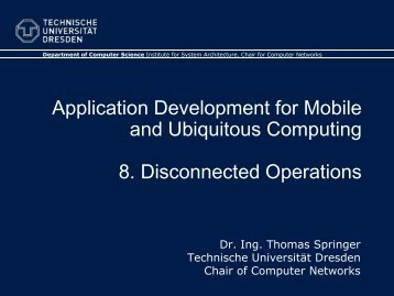 8. Disconnected Operations - Faculty of Computer Science ...