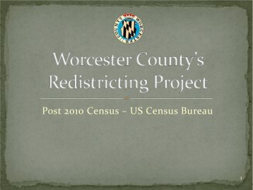 Redistricting Project - Worcester County