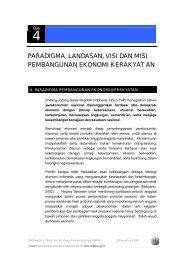 paradigma, landasan, visi dan misi pembangunan ekonomi kerakyat