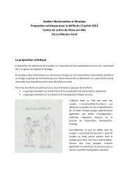Ateliers pédagogiques - Théâtre du Pays de Morlaix