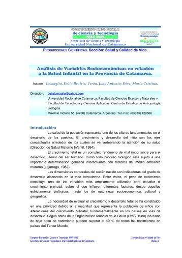 Análisis de Variables Socioeconómicas en relación a la Salud ...