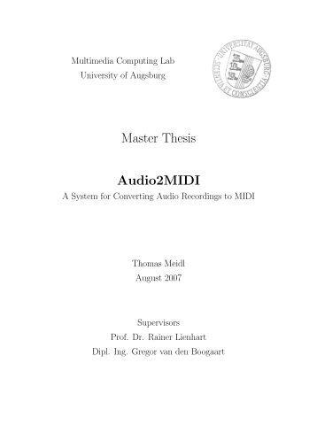 Master thesis on mobile computing