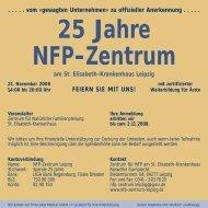 Einladungsflyer - NFP- Zentrum Leipzig