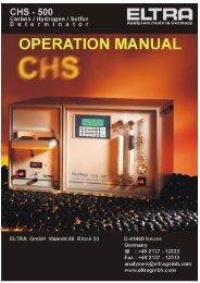operation manual chs-500 - Alpha Resources, Inc.