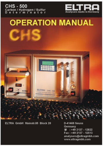 operation manual chs-500 - Alpha Resources, Inc.