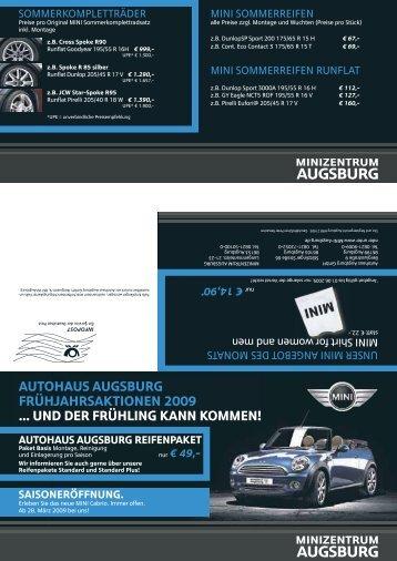 autohaus augsburg frühjahrsaktionen 2009 ... und der frühling kann ...