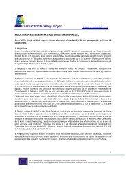 Raport për komponentën 2 - EU EDUCATION SWAp Project