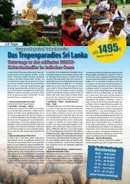 Das Tropenparadies Sri Lanka - Reisemail24