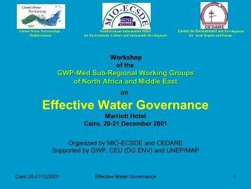 Effective Water Governance - Global Water Partnership