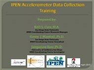 Accelerometer Training Slides - IPEN