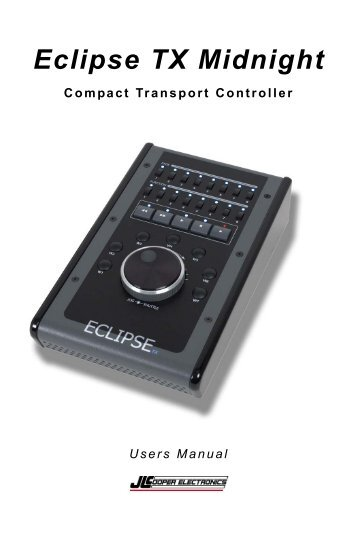 JLCooper Eclipse MX Midnight Ethernet Driver for Windows