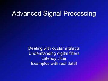 Advanced Signal Processing