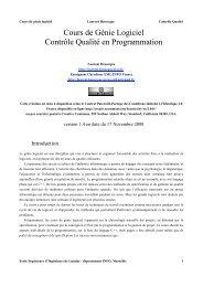 Qualité Developpement Henocque Esil Info 2008 - Laurent Henocque