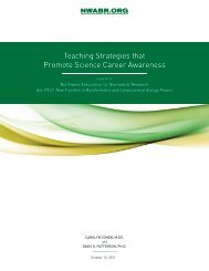 Teaching Strategies that Promote Science Career Awareness