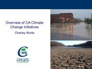 Overview of CA Climate Change Initiatives - Ontario Centre for ...