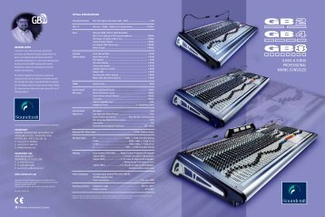 4-BUS & 8-BUS PROFESSIONAL MIXING CONSOLES