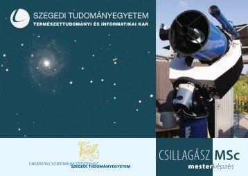 CSILLAGÁSZ MSc - Fizikus Tanszékcsoport - Szegedi ...