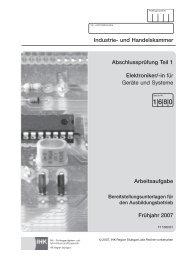 Industrie- und Handelskammer Elektroniker/-in für Geräte und ...