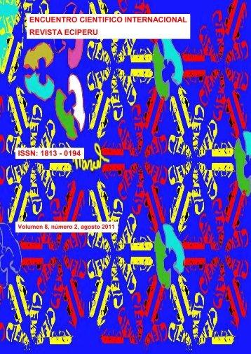 Volumen 8, núm 2 ECI 2011i (agosto 2011) - Encuentro Científico ...