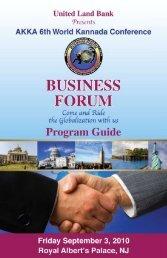 Program Guide - AKKA Online Home Page