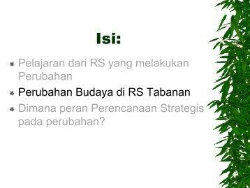 Rencana Stratejik dan Perubahan Budaya-2 - Manajemen Rumah ...