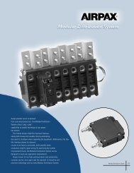 Airpax provides circuit on demand from a pre-wired power bus. The ...