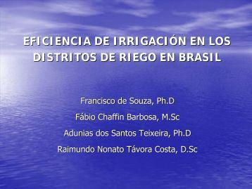 EFICIENCIA EN LOS DISTRITOS DE RIEGO EN BRASIL