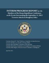 Interim Progress Report - Committee on Oversight & Government ...