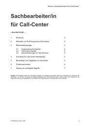 Sachbearbeiter Call-Center - Pinnow & Partner Unternehmens