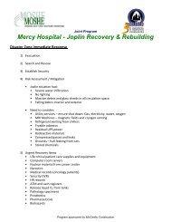Joplin Immediate Response Outline 120515