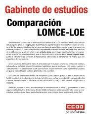 Estudio comparativo LOMCE-LOE - Federación de Enseñanza de ...