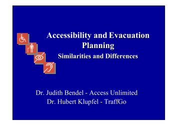Accessibility and Evacuation Planning