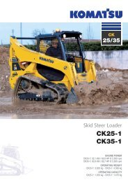 to download brochure of Crawler Skid Steer ... - komatsu europe