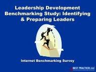Leadership Development Benchmarking Study - Best Practices, LLC