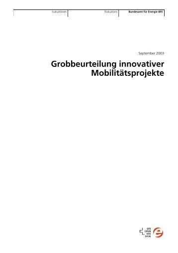 Grobbeurteilung innovativer Mobilit