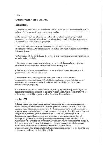 Gemeentewet, nota griffie en de motie - Gemeente Roermond