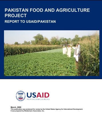 Pakistan Food and Agriculture Project.pdf - Economic Growth - usaid