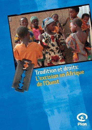 Tradition et Droits. L'Excision en Afrique de - Plan Canada