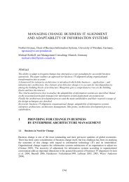 Managing Change: Business/ IT Alignment and Adaptability of ...