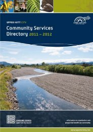 2011/2012 Community Services directory - Upper Hutt City Council