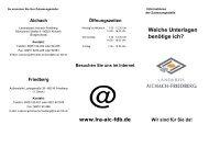 Welche Unterlagen benötige ich? - Landkreis Aichach-Friedberg