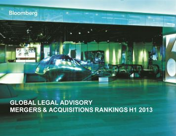 Legal Advisory M&A - Bloomberg