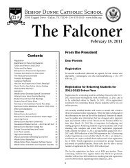 The Falconer February 18, 2011 - Bishop Dunne Catholic School