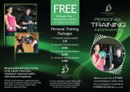 Download Our Personal Training Brochure - Bicester Hotel, Golf and ...