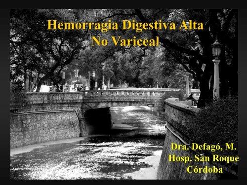 Hemorragia digestiva Alta no Variceal. - Asociación de ...